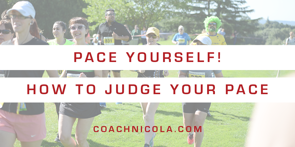 Blog header - Pace yourself, how to judge your pace