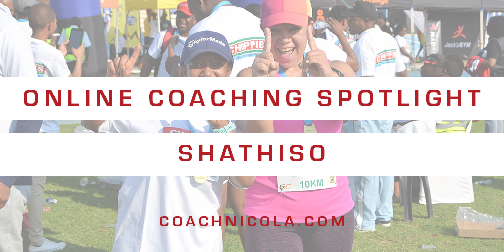Blog Header - Online Coaching spotlight Shathiso